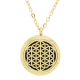 Egyptian Mesh Diffuser Locket Necklace - Gold