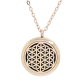 Egyptian Mesh Diffuser Locket Necklace - Rose Gold