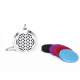 Egyptian Mesh Diffuser Locket Necklace - Silver