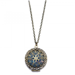 Old-Vintage Circle Star Diffuser Necklace