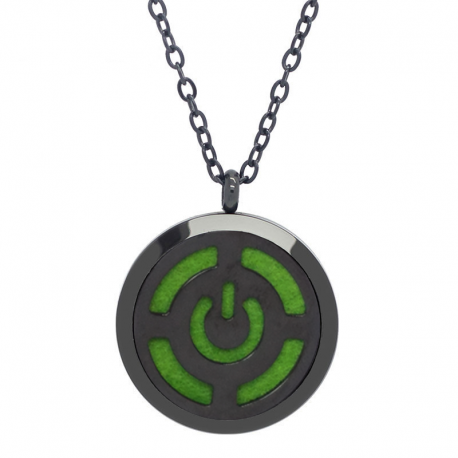 Mood Button Diffuser Necklace
