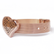 Heart Watch-Style Diffuser Bracelet - Rose Gold