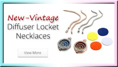 New-Vintage Diffuser Locket Necklaces
